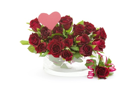 red roses and heart Stock Photo - 17562159