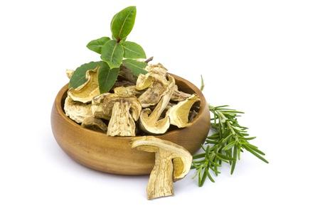 herbs and dried mushrooms - boletus Standard-Bild