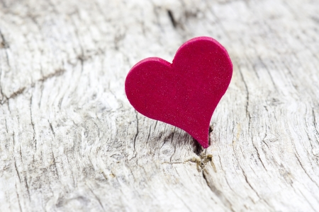 red heart on wooden background Stock Photo - 19363682