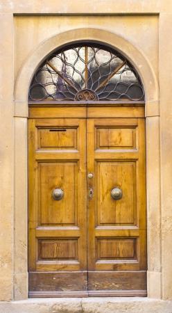 lovely tuscan doors, San Gimignano, Italy photo