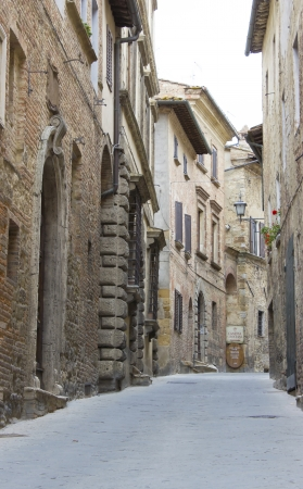 montepulciano: lovely tuscan street - Montepulciano, Italy