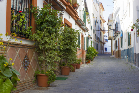Street in Almunecar Andalusia, Spain photo