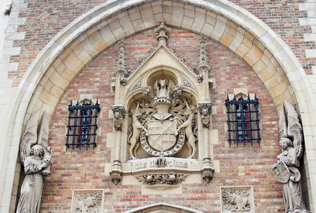 lord's: Gate to Gruuthusemuseum - former palace of the Lords of Gruuthuse, Brugge, Belgium. Editorial