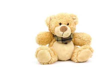 oso de peluche: el oso de peluche en el fondo blanco