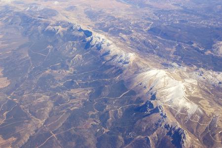 nevada: Aerial view of Sierra Nevada in Spain