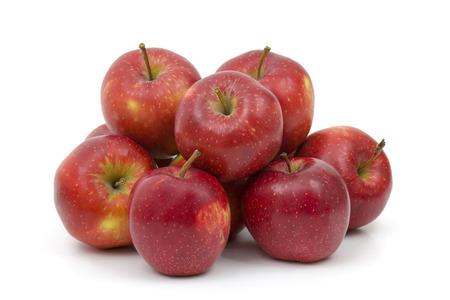 red apples on white background Standard-Bild