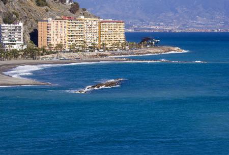 playa: Playa De La Caletilla, Almunecar, Andalusia, Spain