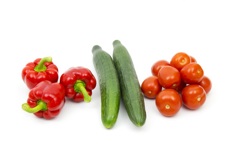 fresh vegetables on white background photo