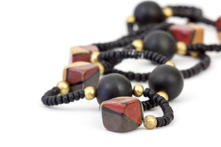 ladylike: necklace of wooden beads