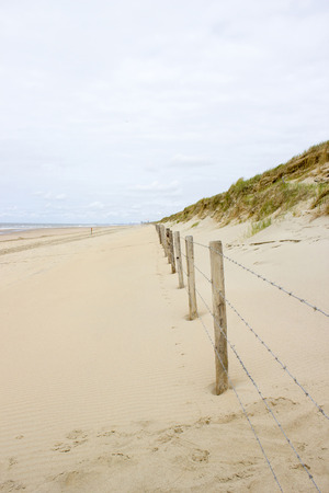 journeying: View on the beach and sand dunes in the Netherlands