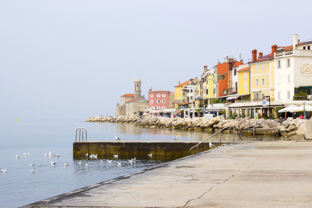 slovenian: old town Piran - beautiful Slovenian adriatic coast