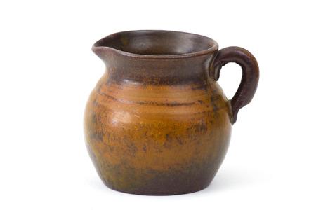 Clay pot, old ceramic vase