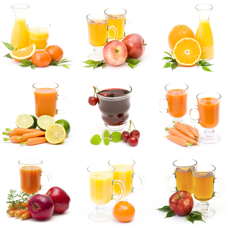 foodstill: fruit juice and fresh fruits - collage