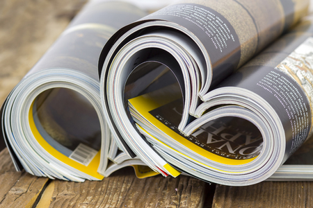 colorful newspapers - relaxing time Stock Photo