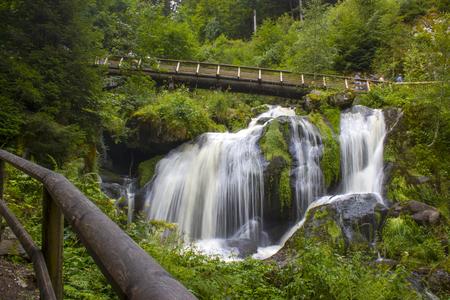 Triberg-watervallen, een van de hoogste watervallen van Duitsland - de regio van het Zwarte Woud Stockfoto