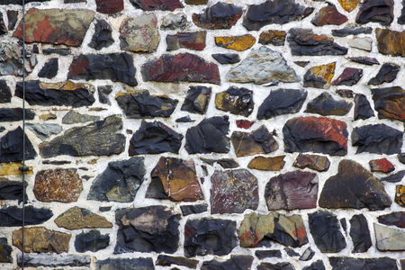 stone wall surface with cement