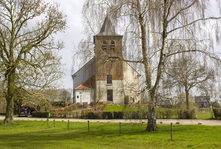 Church in traditional Dutch village Ooij, Gelderland, Netherlands Stock Photo