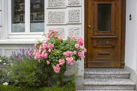Old house in German small town, Geldern, North-Rhine Westphalia Stock Photo