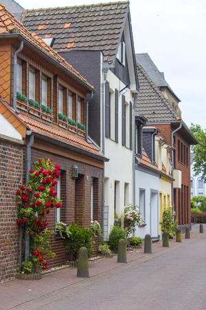 Street in German small town, Geldern, North-Rhine Westphalia Stock Photo