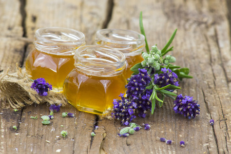 herbal honey with fresh herbs