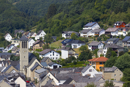 View of Rieden in Eifel region, North Rhine Westfalia, Germany