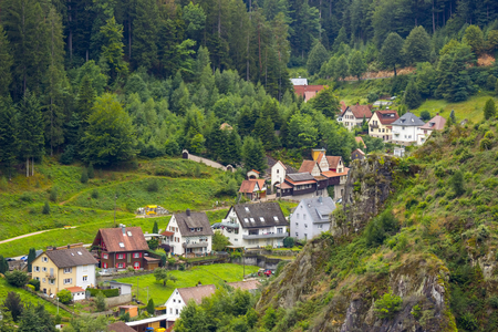 View of Hornberg in Black Forest - Germany, Baden-Wurttemberg Stock Photo