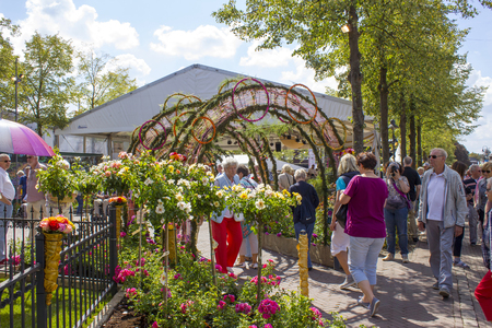 LOTTUM NETHERLANDS - AUGUST 11 2018: the Rose Festival 2018, unidentified people Editorial