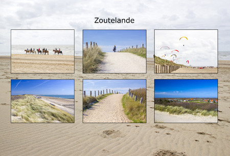 The Dutch village of Zoutelande - collage