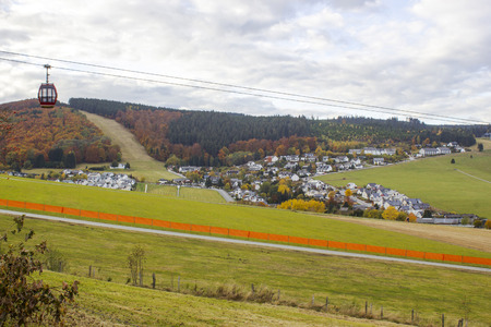 Panorama of Willingen in the Sauerland region (Germany)
