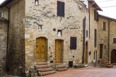 San Gimignano - small walled medieval hill town in the province of Siena, Tuscany, Italy