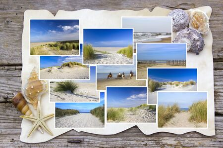 beach in Renesse in the Netherlands - collage