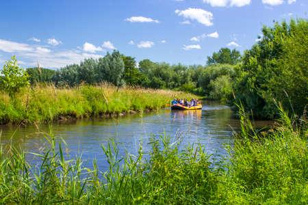 River Niers near Village of Wachtendonk in Lower Rhine Region, Rhineland, North Rhine Westphalia, Germany