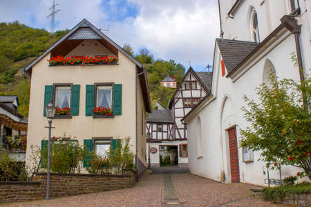 Treis-Karden town with the Moselle river in Rhineland-Palatinate, Germany
