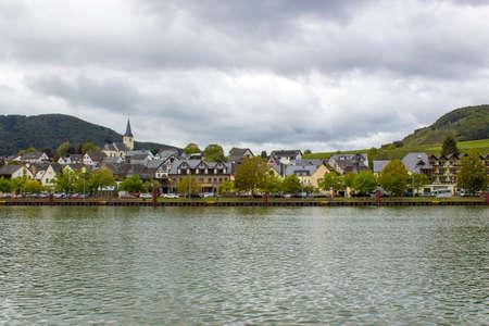 Ellenz-Poltersdorf at Moselle river, Rhineland-Palatinate, Germany