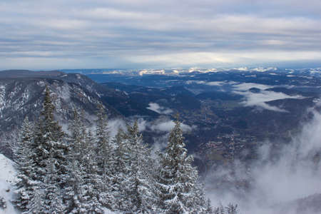 Above the clouds - View from Rax Mountain in the Austrian Alps, Lower Austria
