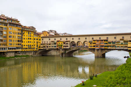 Florence, Arno River and Ponte Vecchio Bridge, Tuscany, Italy