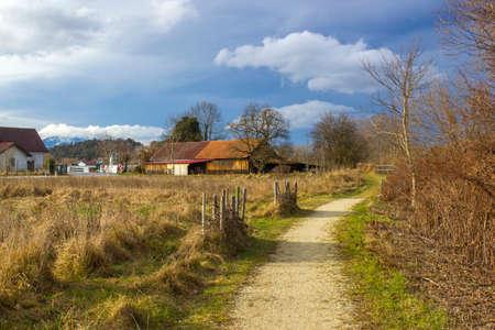 Landscape in Bad Erlach in Lower Austria Standard-Bild