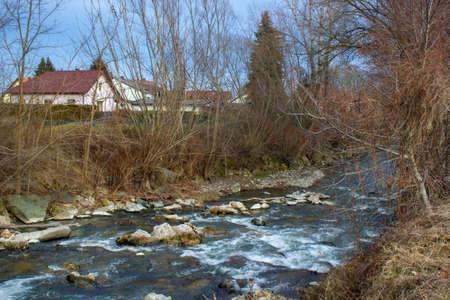river Pitten in Bad Erlach in Lower Austria
