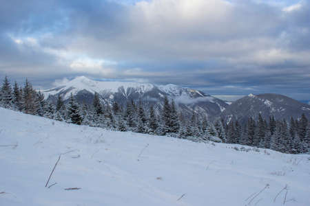 Winter landscape - Rax Mountain in the Austrian Alps, Lower Austria Standard-Bild