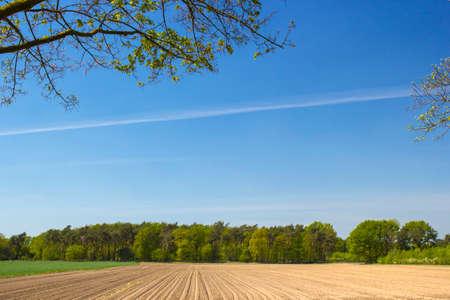 German countryside landscape, Lower Rhine Region Standard-Bild
