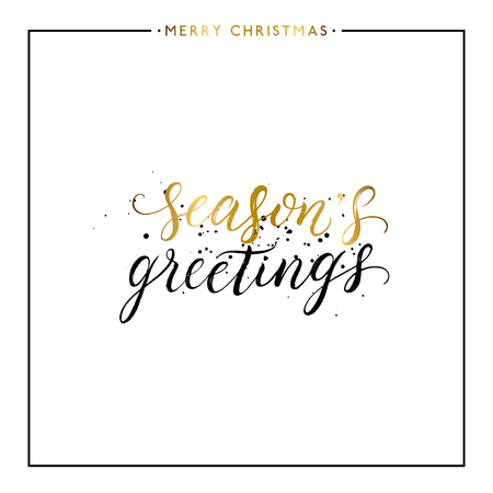 Seasons greetings gold text with black splashes isolated on white seasons greetings gold text with black splashes isolated on white background hand painted letter m4hsunfo