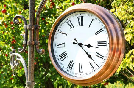 Great copper outdoor clock