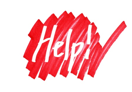 Help sign, graphic,dramatic. Stock Photo - 9054905