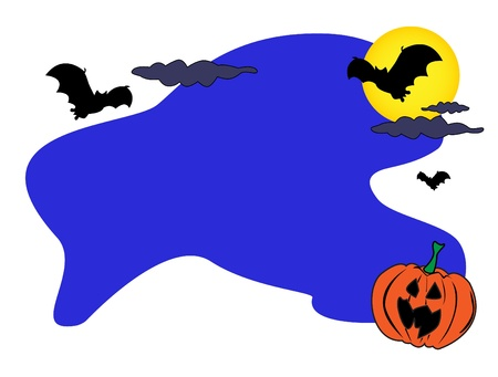 ample: Fun halloween cartoon background card with ample room for your text.