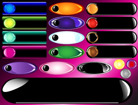 다양 한 광택 또는 적 열하는 웹 막대 및 단추 디자인을위한 재미 핫 핑크 그라데이션 배경.