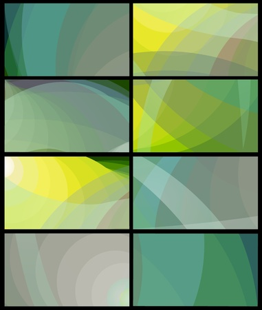 Beautiful abstract dynamic graphic design of trendy color grey green blue tone business card background.