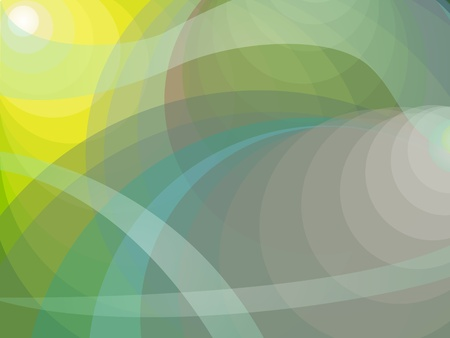 Dynamic abstract background with flowing shades of yellow, green and blue grey circles with waves. Illusztráció