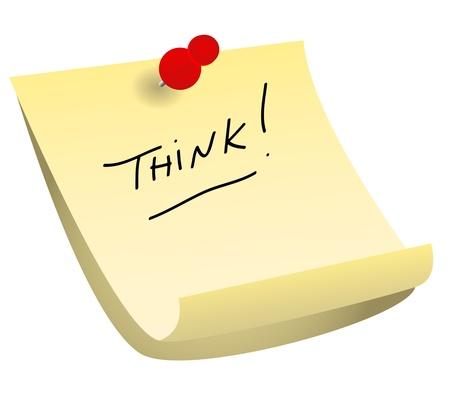připínáček: Připnul s červeným připínáček žluté lepicí poznámky připomínající sám nebo někoho jiného myslet.