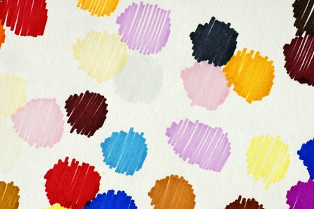 Fun detailed macro of colorful ink blots with paper fibers visible. Stock Photo - 10465808