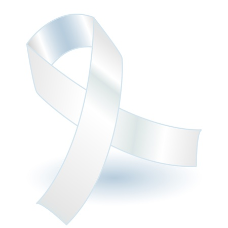 White awareness ribbon with drop shadow, simple and effective.